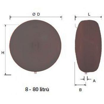 Reflex topná expanzní nádoba EN R 80/3 šedá