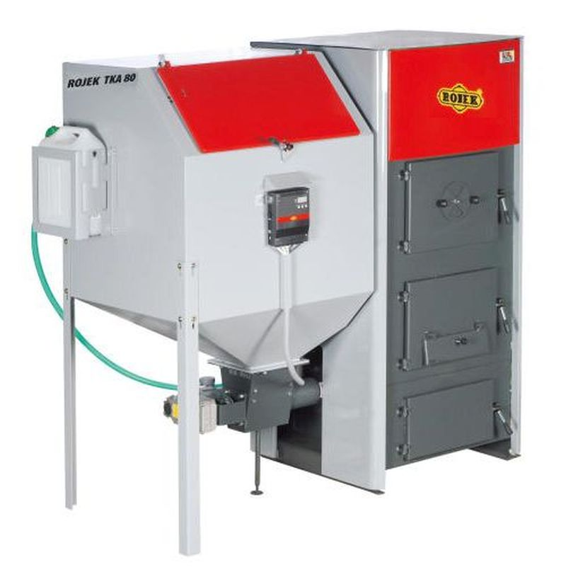 Rojek TKA BIO 80 Automatický teplovodní kotel na dřevěné pelety, pravý