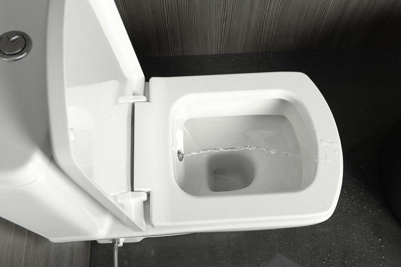 SAPHO BASIC WC mísa kombi s integrovanou bidetovou sprškou, spodní/zadní odpad 71122340