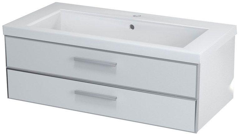 SAPHO KLÁRA 56301 umyvadlová skříňka 90x30x45cm, bílá
