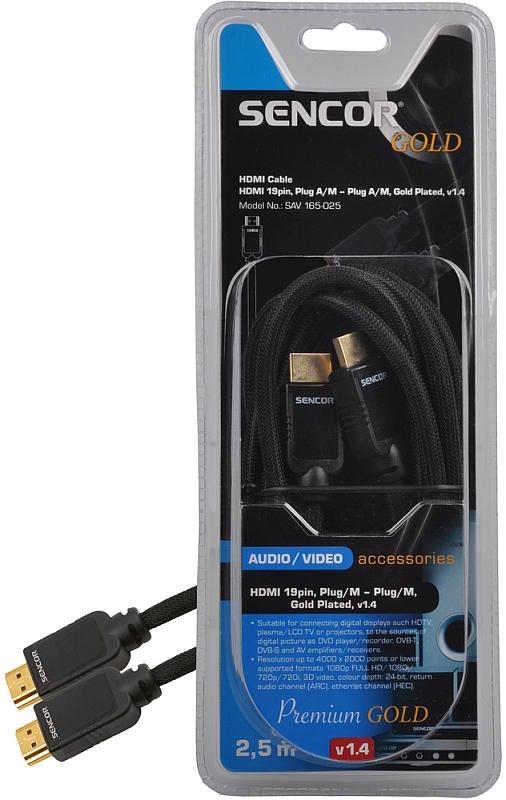 SENCOR AV kabel SAV 165-025 HDMI M-M 2,5M v1.4 PG 35039900