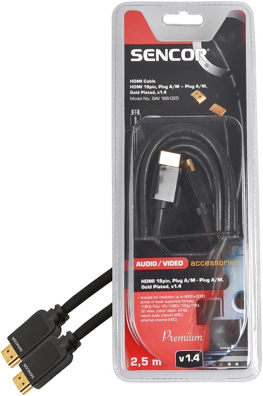 SENCOR AV kabel SAV 166-025 HDMI M-M 2,5m v1.4 P 35039914