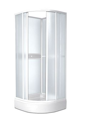 TEIKO SKKH 2/80 R50 sprchový kout čtvrtkruhový chinchila V331080N53T22501