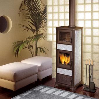 EDILKAMIN ELF teplovzdušná krbová kamna na dřevo s píckou 434560