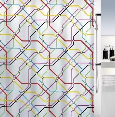 SPIRELLA METRO Sprchový závěs 180 x 200 cm multicolor 1016134