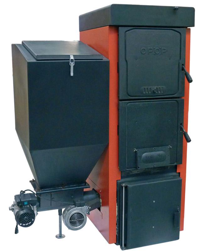 Kotel OPOP UNI K 6 litinový automatický na uhlí a peletky 35kW